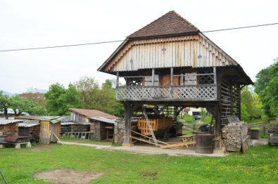 A traditional Slovene hayrack-
