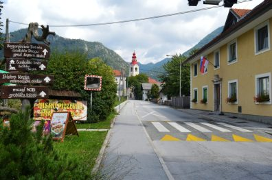 The village of Begunje na Gorenjskem where the world famous musicians of Slovenian folk music were born.
