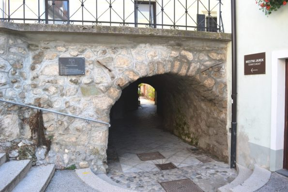 Radovljica contains the only still-existing moat in all of Slovenia