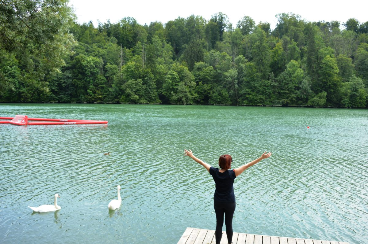 Enjoy the day at Lake Zbilje just outside Ljubljana!