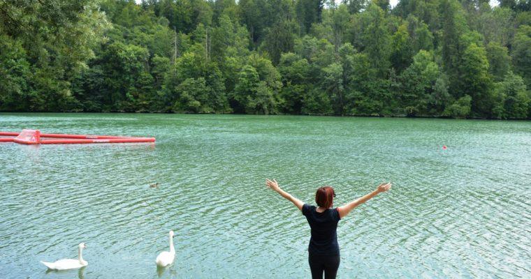 Enjoy the day at Lake Zbilje just outside Ljubljana!