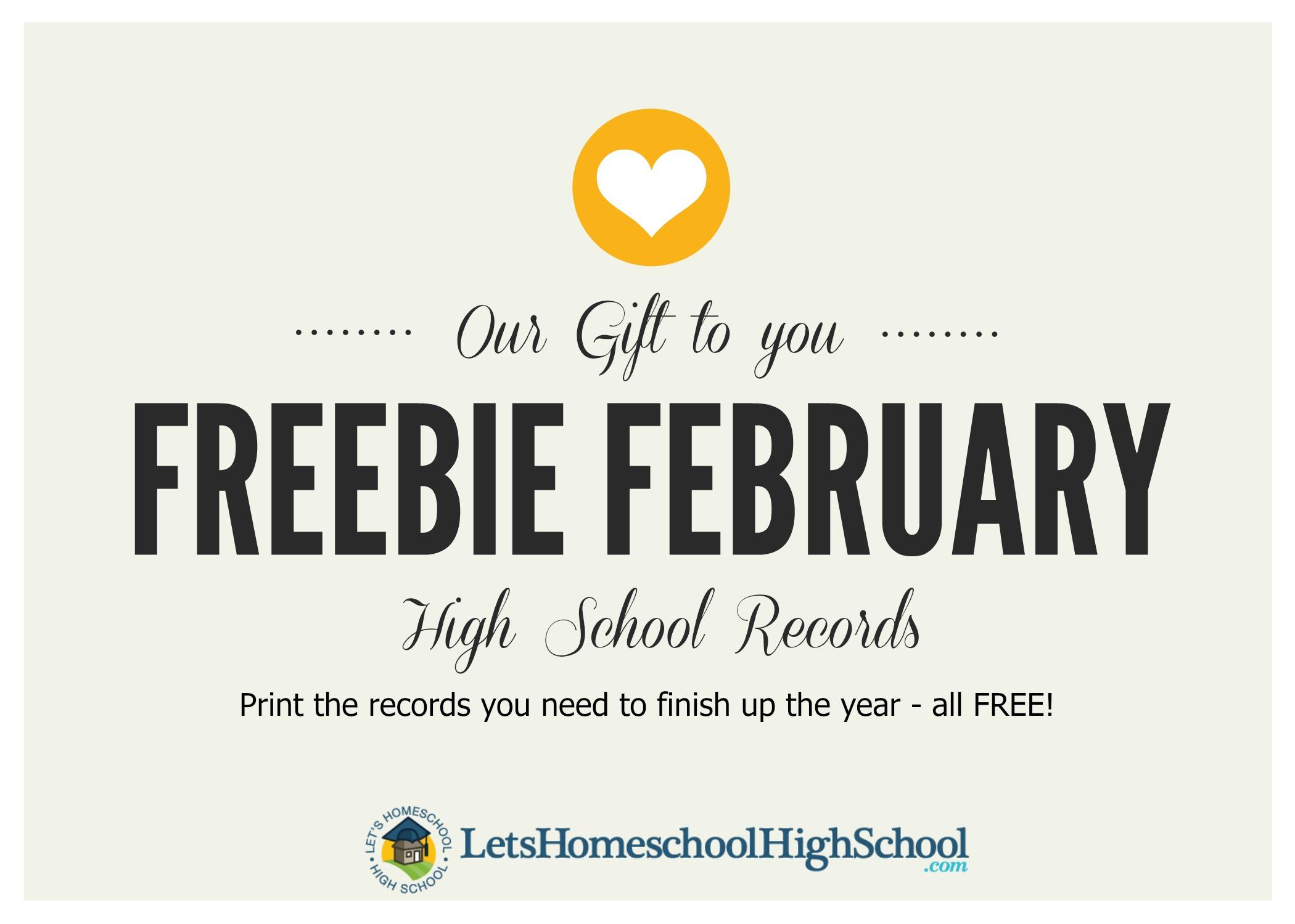 Freebie February Free Printables
