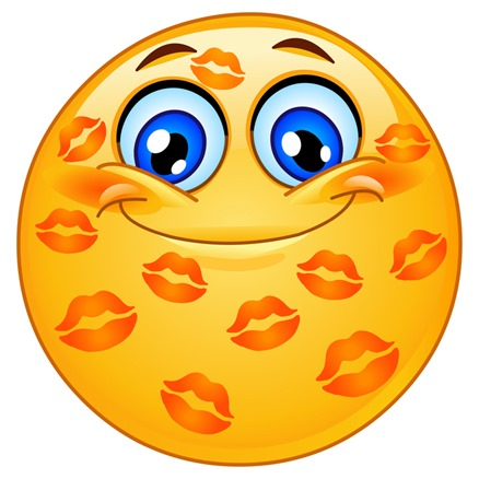 Kissed emoticon
