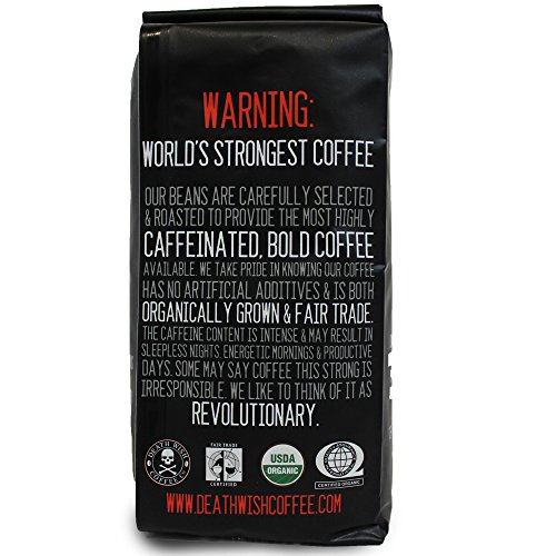 Death Wish Ground Coffee The Worlds Strongest Coffee Fair Trade And USDA Certified Organic