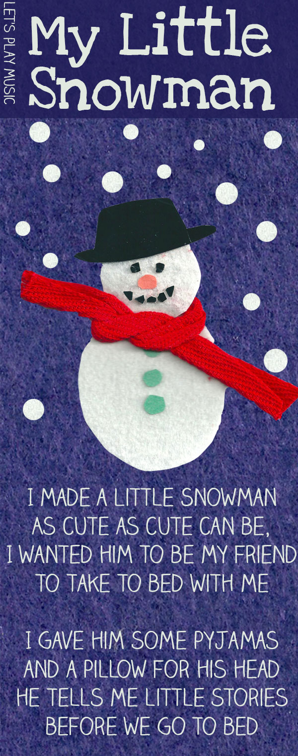 My Little Snowman Snowman Songs For Christmas