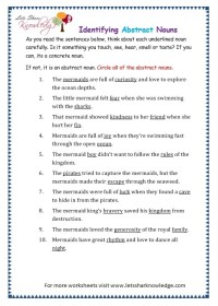 All Worksheets  Abstract Noun Worksheets For Class 4 ...