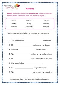 5th Grade  5th Grade Adverb Worksheets - Printable ...