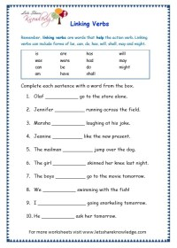 The gallery for --> Linking Verbs Worksheet