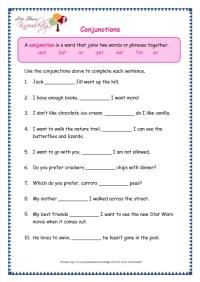 All Worksheets  Conjunctions Worksheets For Grade 1 ...