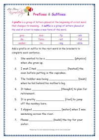 All Worksheets  Suffix Worksheets For Grade 2 - Printable ...
