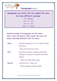 Grade 3 Grammar Topic 26: There, Their, They're Worksheets ...