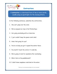 All Worksheets  Contraction Worksheets For Grade 3 ...