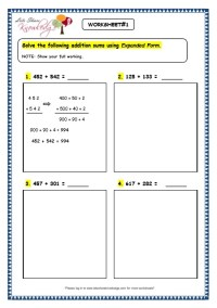 Grade 3 Maths Worksheets: Addition (3.5 Addition Using ...