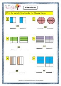 Number Names Worksheets  Worksheet On Fractions For Grade ...