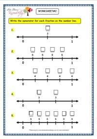 Number Line Worksheets  Fractions On A Number Line ...