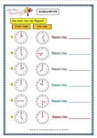 3rd Grade  Elapsed Time Worksheets 3rd Grade - Printable ...