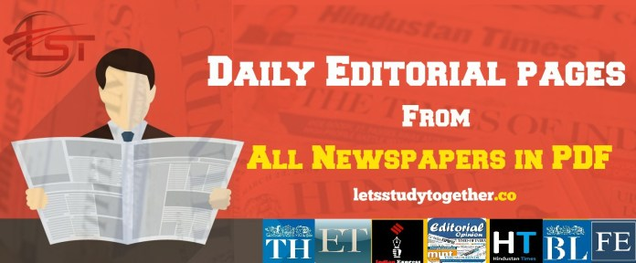Daily Editorial PDF from All Newspapers