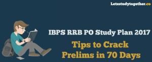 IBPS RRB PO Study Plan 2017