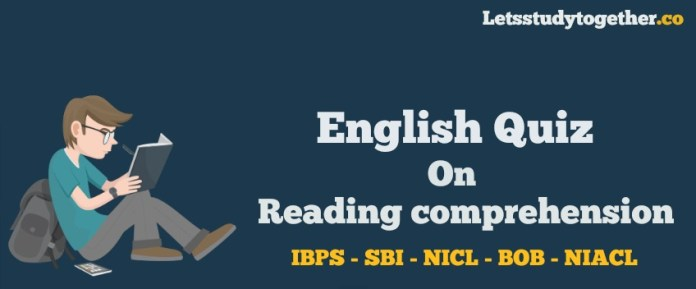 Reading Comprehension Quiz