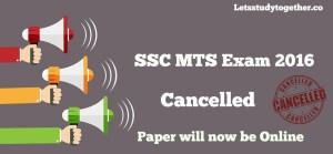SSC MTS Exam Cancelled