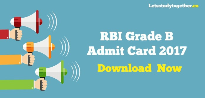 RBI Grade B Prelims Admit Card 2017