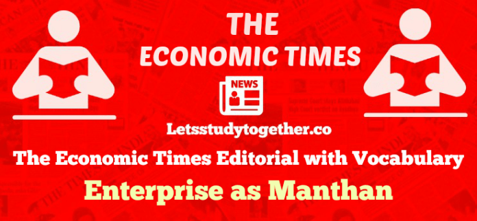 The Economic Times Editorial with Vocabulary
