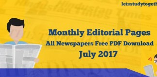 Monthly Editorial pages from All Newspapers Free PDF Download