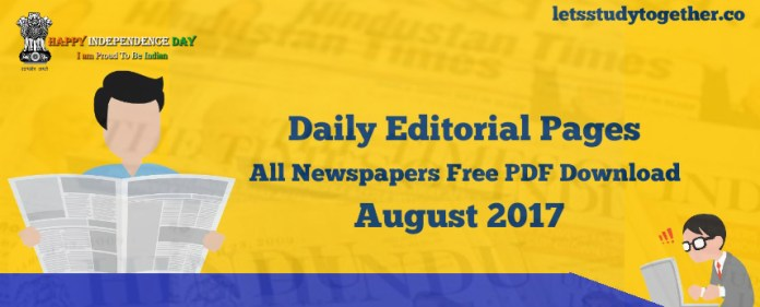 Daily Newspapers Editorial PDF