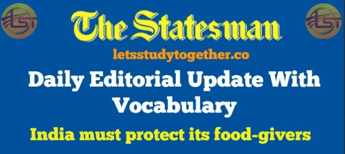 The Statesman Editorial with Vocabulary