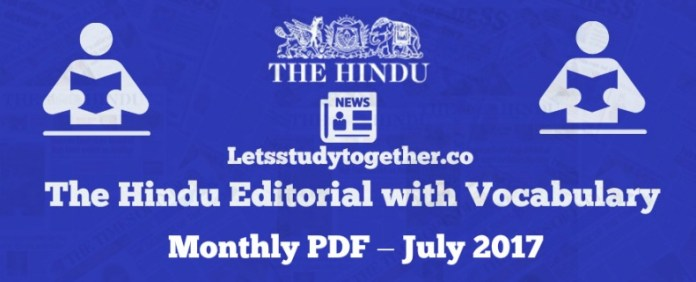 The Hindu Editorial Vocabulary Words Monthly PDF