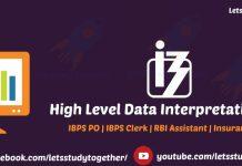 Data Interpretation for IBPS Clerk Mains 2017
