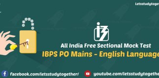 All India Free Sectional Mock Test for IBPS PO Mains