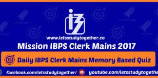 IBPS Clerk Mains Memory Based Question