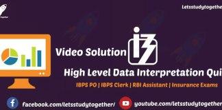 Data Interpretation for IBPS Clerk Mains 2017(Video Solution)
