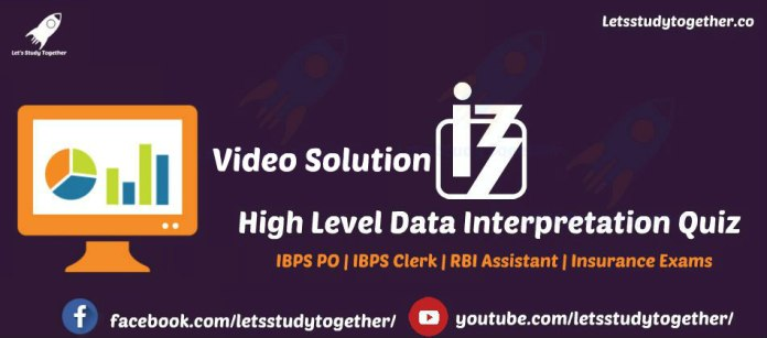 Data Interpretation for IBPS Clerk Mains 2017(Video Solution)