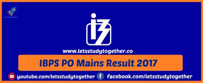 IBPS PO Mains Result 2017