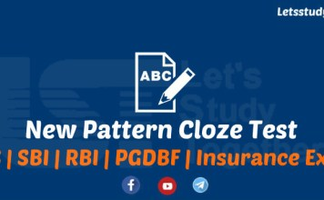 New Pattern Cloze Test Questions for SBI PO/Clerk 2018