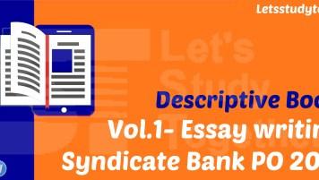Descriptive Book for Syndicate Bank PO