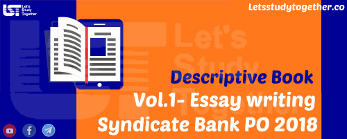 descriptive book for syndicate bank po vol i essay  descriptive book for syndicate bank po
