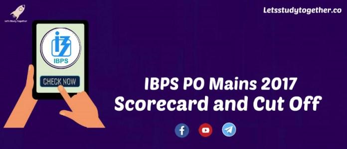 IBPS PO Mains Scorecard and Cut Off