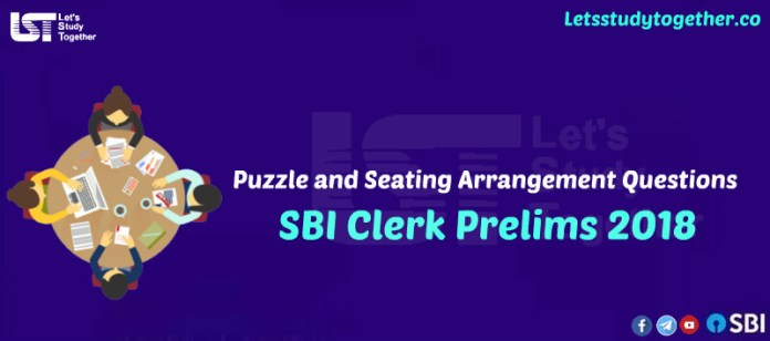 Puzzle and Seating Arrangement Questions for SBI Clerk Prelims