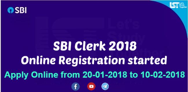 SBI Clerk Apply Online 2018