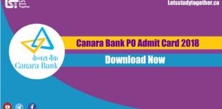 Canara Bank PO Admit Card