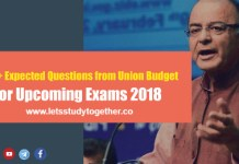 Expected Questions from Union Budget