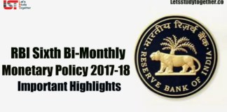 RBI Sixth Bi-monthly Policy