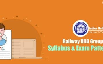 Railway RRB Group D Syllabus & Exam Pattern 2018