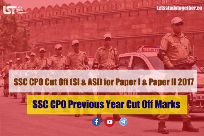 SSC CPO Cut Off