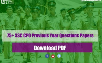 SSC CPO Previous Year Questions Papers PDF