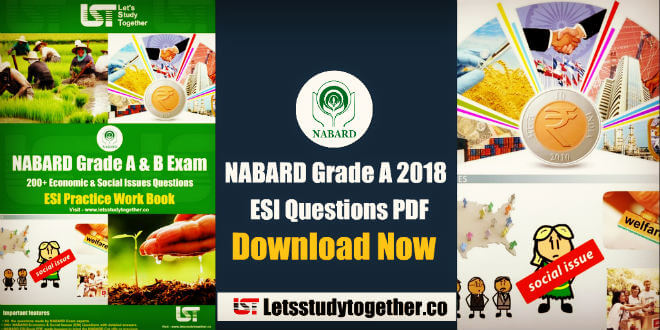 NABARD Economic & Social Issues (ESI) Questions PDF - NABARD ESI Book PDF
