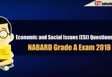 Economic and Social Issues (ESI) Questions Asked in NABARD Grade A Exam 2018